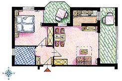 Skizze Appartement Nr. 3