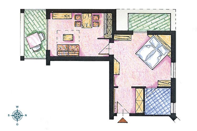 Skizze Appartement Nr. 4