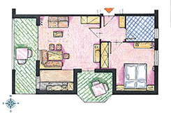 Skizze Appartement Nr. 6