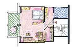 Skizze Appartement Nr. 7